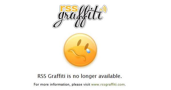 RSSGraffitiが突然サービス停止!ビジネスモデルの破たんが原因か