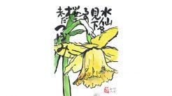 絵手紙--水仙