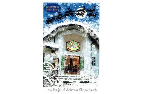 Merry Christmas—アキラさんの絵手紙2017